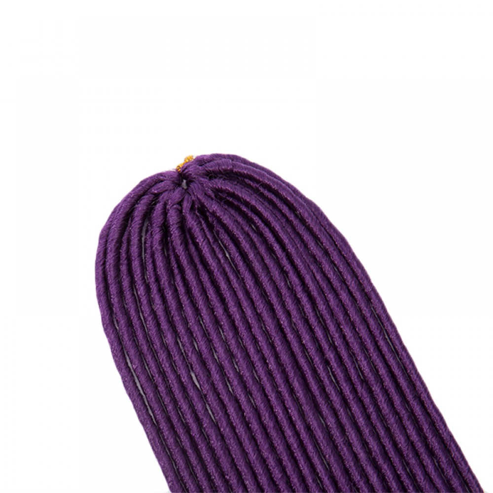 Synthetic Faux Locs Braid Hair Extensions Dark Purple
