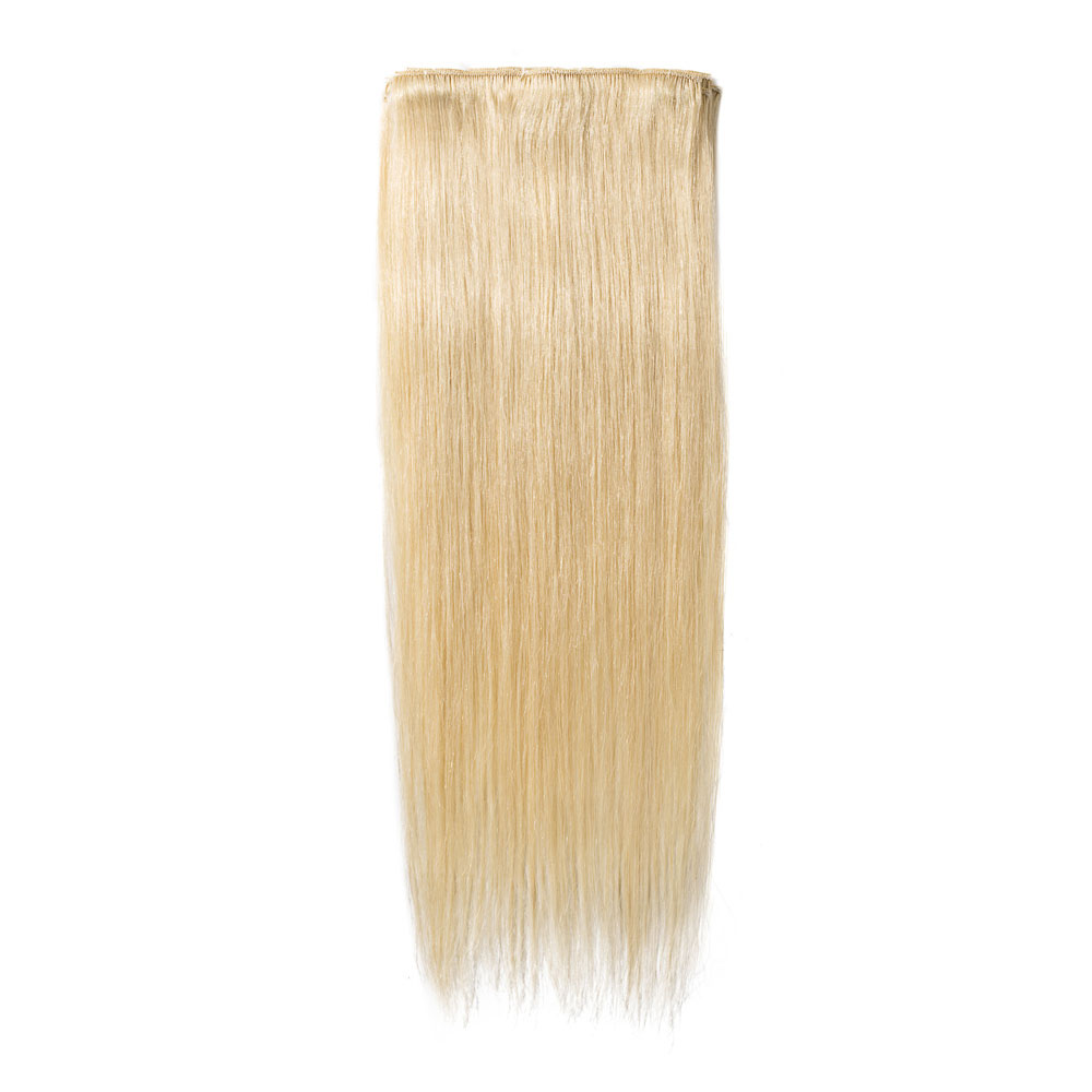 8 Pcs Straight Clip In Remy Hair Extensions 613 Bleach Blonde