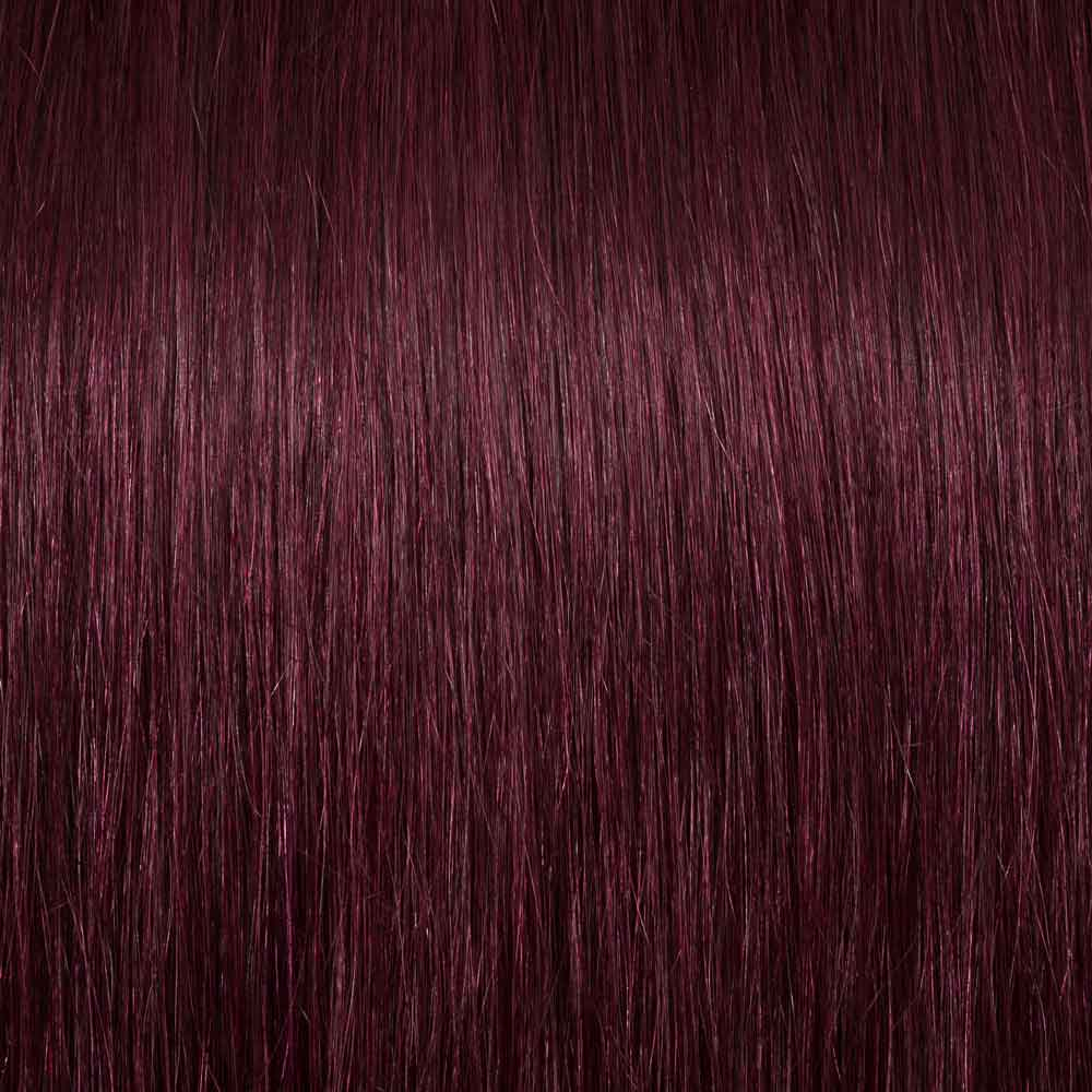 8 Pcs Straight Clip In Remy Hair Extensions 99j Wine Red