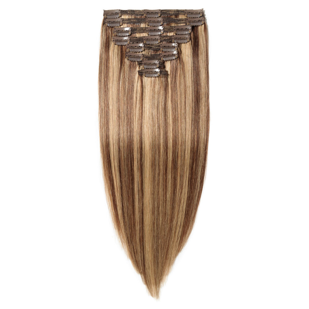 8 Pcs Double Weft Straight Clip In Remy Hair Extensions 427