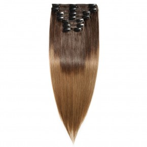 8 Pcs Double Weft Straight Clip In Remy Hair Extensions #2/6