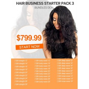 Start Hair Business For Wholesale Human Hair Weave Package