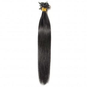 16-22 Inch  Straight U-Tip Hair Extensions #1 Dark Black