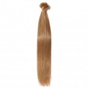 16-22 Inch Straight U-Tip Hair Extensions #12 Light Golden Brown