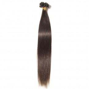 16-22 Inch Straight U-Tip Hair Extensions #2 Dark Brown