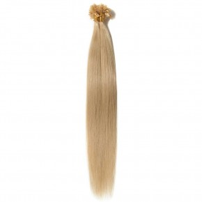 16-22 Inch Straight U-Tip Hair Extensions #24 Ash Blonde