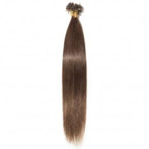 16-22 Inch Straight U-Tip Hair Extensions #4 Medium Brown