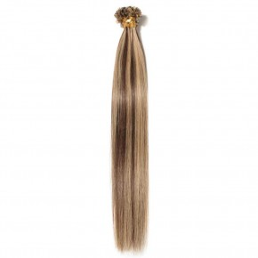 16-24 Inch Straight U-Tip Hair Extensions #4/27