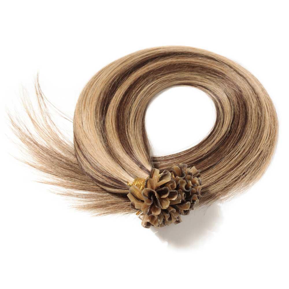 16 22 Inch Straight U Tip Hair Extensions 4 Medium Brown