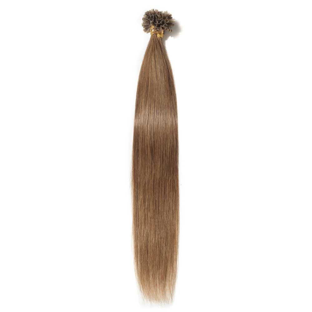 16-22 Inch Straight U-Tip Hair Extensions #6 Light Brown