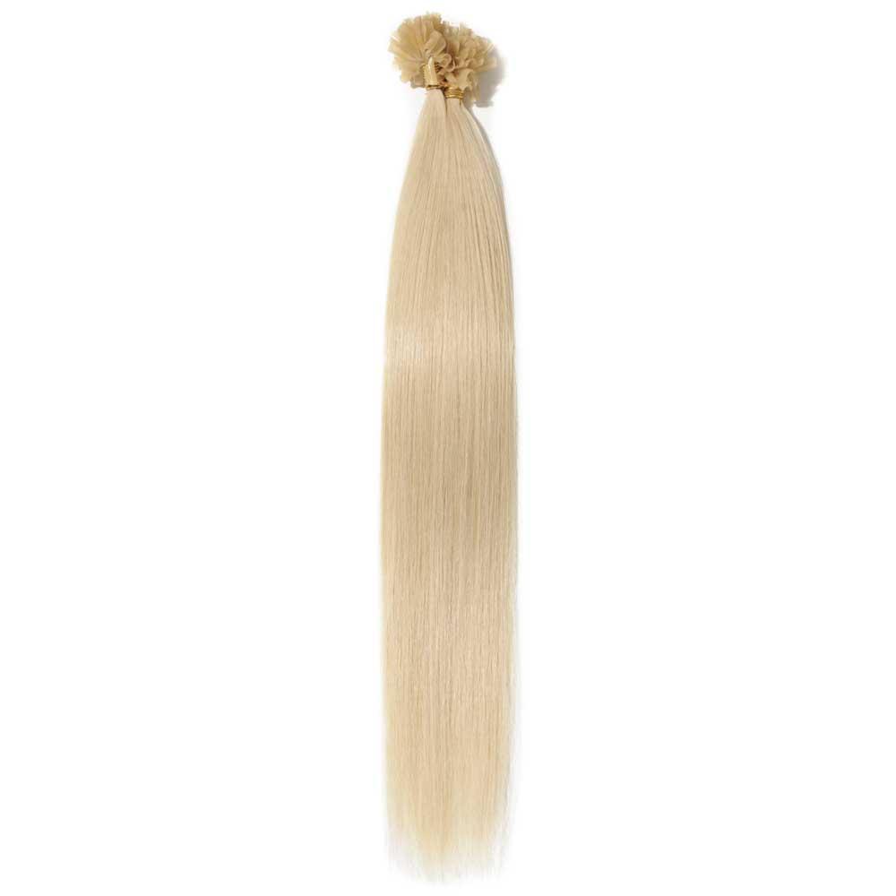 16-22 Inch Straight U-Tip Hair Extensions #60 Platinum Blonde