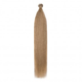 16-22 Inch Straight I-Tip Hair Extensions #27 Dark Blonde
