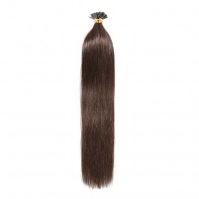 16-22 Inch Straight I-Tip Hair Extensions #4 Medium Brown