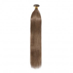 16-22 Inch Straight I-Tip Hair Extensions #6 Light Brown