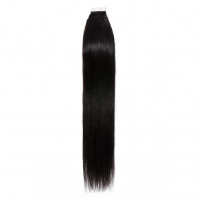 16-24 Inch Straight Tape In Hair Extensions #1B Natural Black