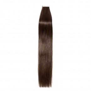 16-24 Inch Straight Tape In Hair Extensions #2 Dark Brown
