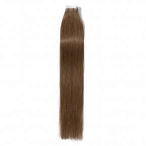 16-24 Inch Straight Tape In Hair Extensions #6 Light Brown