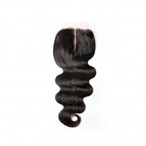 10-20 Inch Virgin Brazlian Hair Body Wavy 4*4 Free Part Lace Frontal Closure