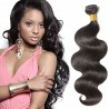10-24 Inch Body Wavy Virgin Brazilian Hair #1B Natural Black
