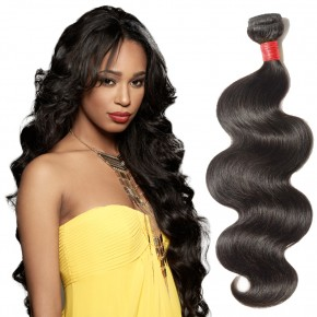 10-24 Inch Body Wavy Virgin Malaysian Hair #1B Natural Black