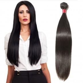 10-24 Inch  Straight Virgin Malaysian Hair #1B Natural Black