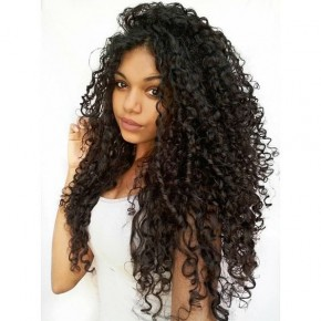 10-22 Inch Brazilian Virgin Deep Curly Lace Front wigs