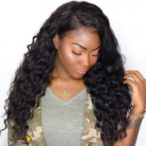 10-22 Inch Brazilian Virgin Loose Wave Lace Front wigs